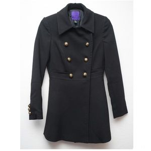 Forever 21 gold button black coat small